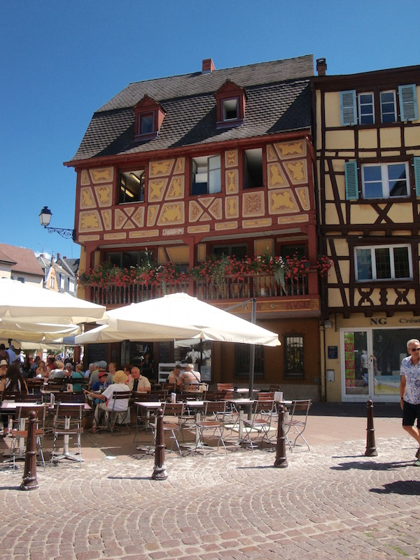 Colmar's cafe culture, Colmar, France
