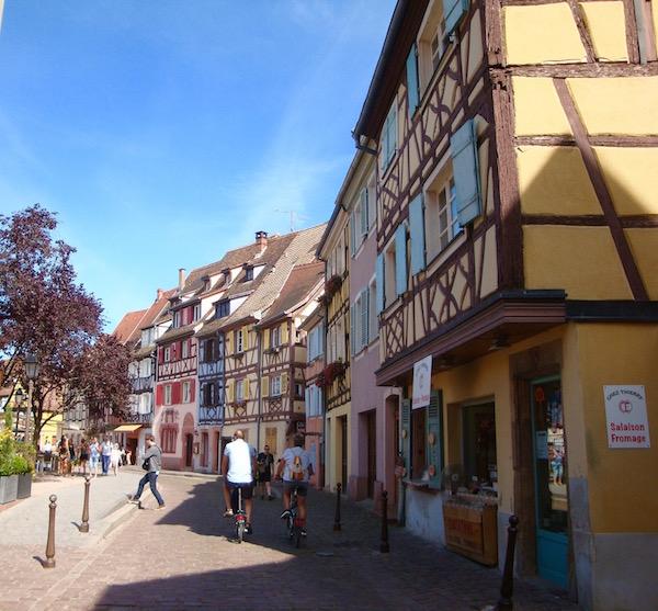 Colmar's crooked streets, Colmar, France