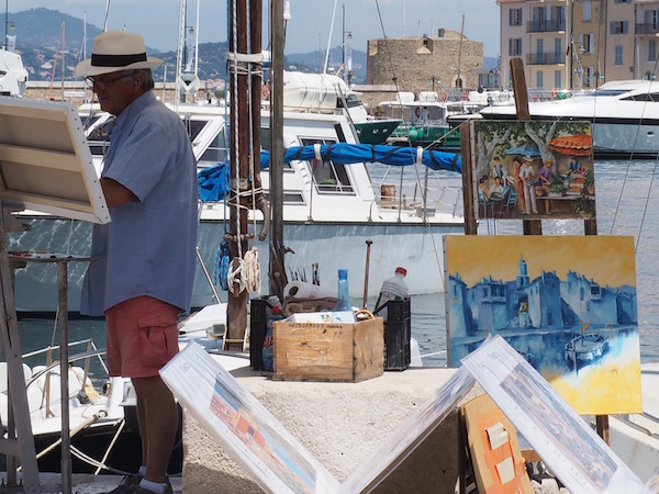 St Tropez artists, St Tropez, France