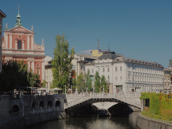 Ljubljana, Three bridges, Slovenia