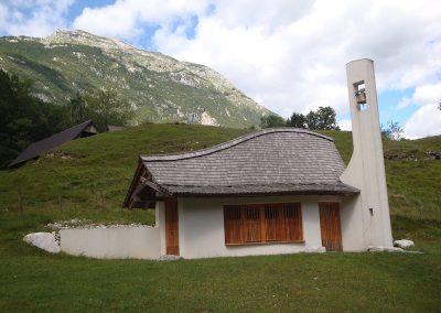 Pluzna church, Bovec, Slovenia