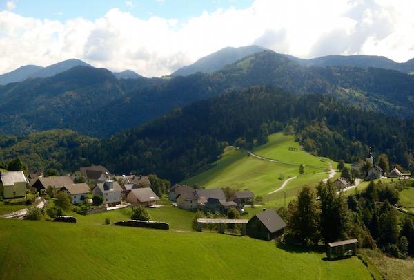 Slovenian mountain village, Slovenia