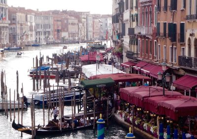 View from Rialto Bridge, Venice, Italy