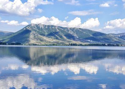 Mirrored mountains, Kastoria, Greece