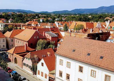 Roof lines, Zagreb, Croatia