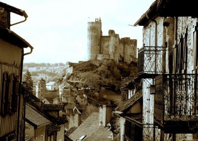 Najac Chateau, Najac, Aveyron, Midi Pyrenees, France