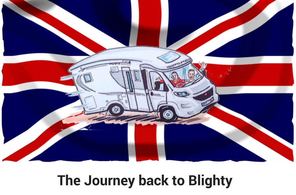 The journey back to Blighty