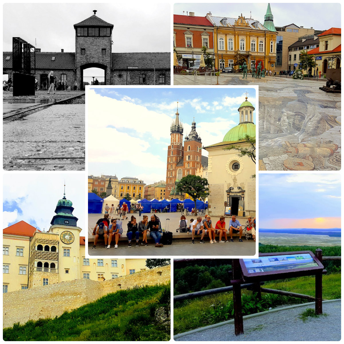 Collage of Krakow's gems