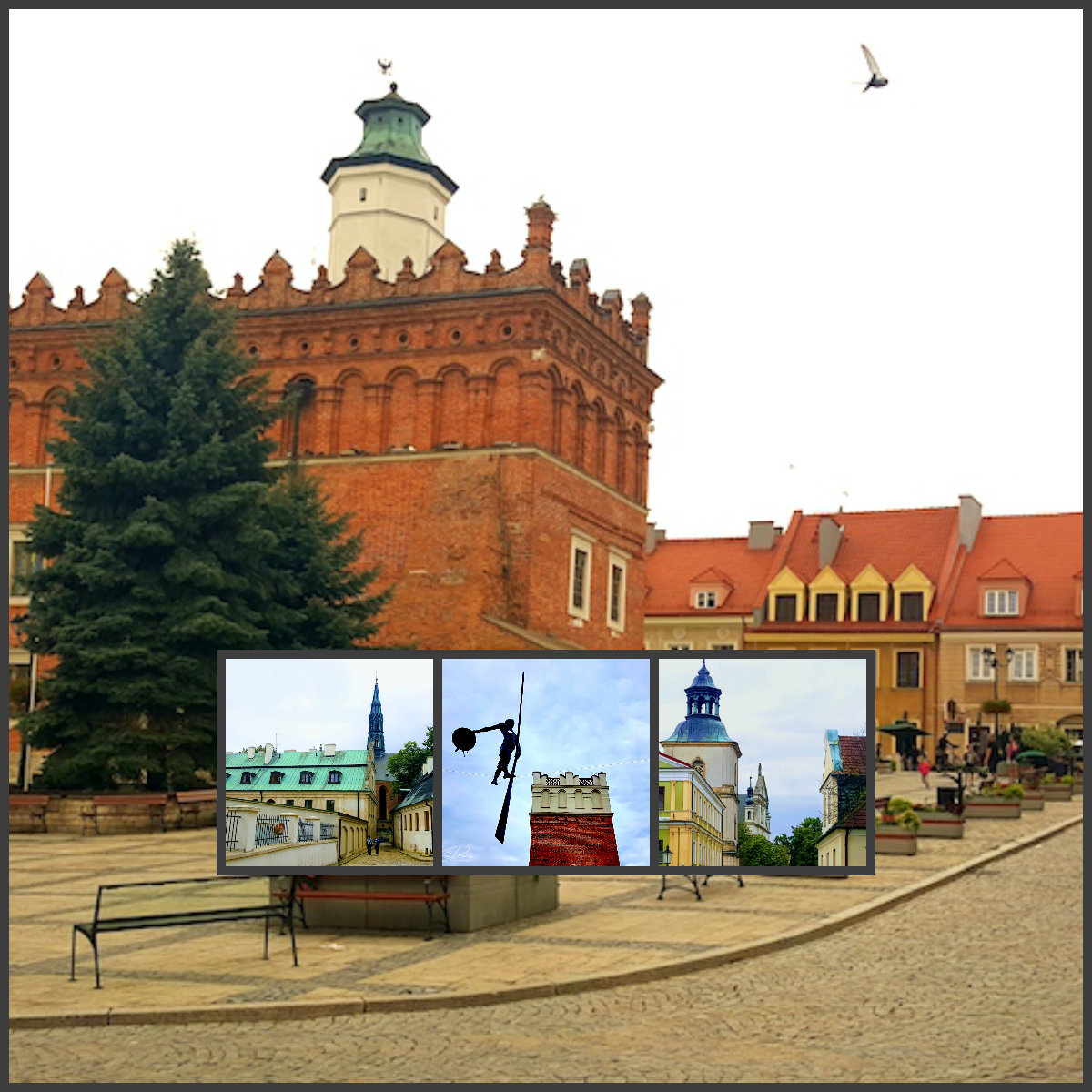 Collage of Sandomierz, Poland
