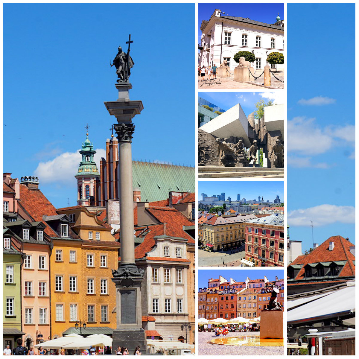 Collage of Warsaw highlights