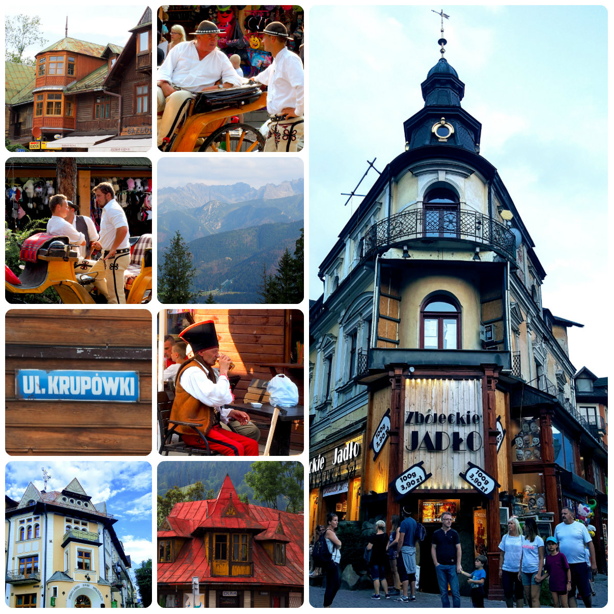 Collage of Zakopane's best bits