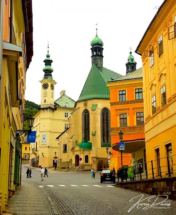 Banksa Striavnica main street, Slovakia