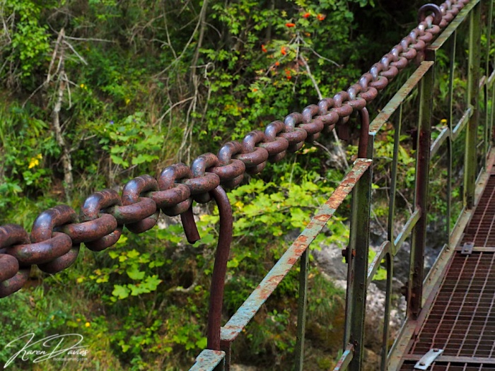 Chains on the Prielom Horndu Hike, Paradise National Park, Slovakia