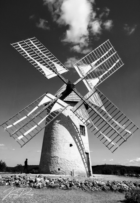 La Courvertoirade Windmill, Les Plus Beaux Village, France