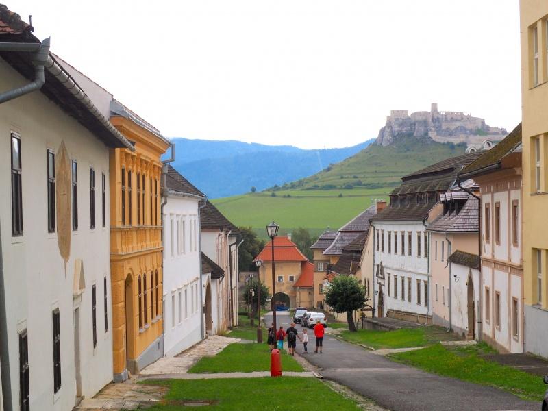 Spišske Podhradie street view, Slovakia