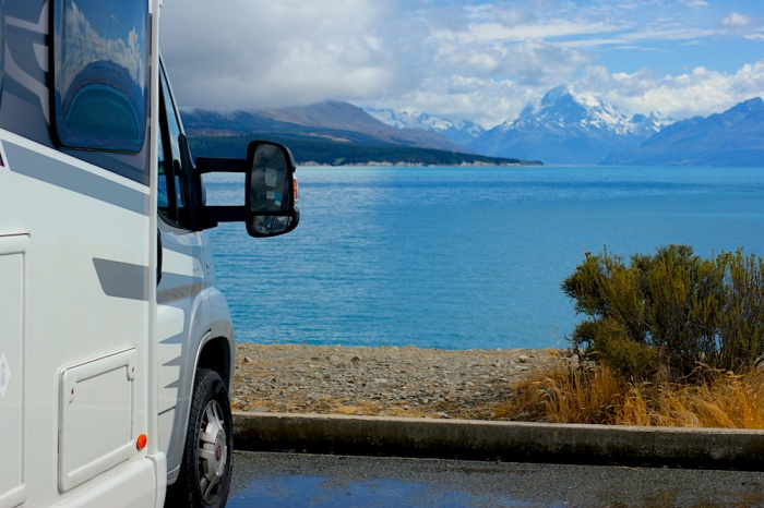 Mount Cook Motorhome View, New Zealand