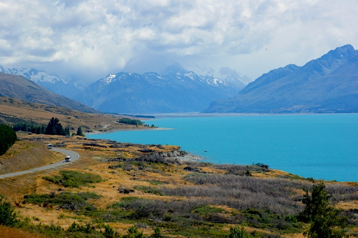 Lake Pukaki and Mount Cook Route 80, New Zealand