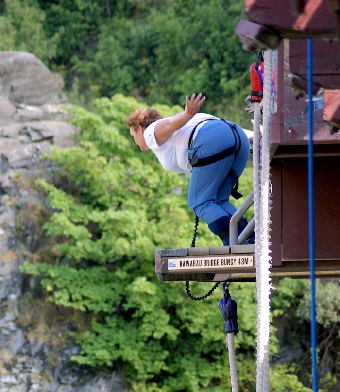 Bunjee Jumping in Queenstown, New Zealand