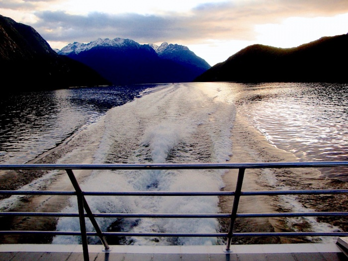 Cruise boat to get to the Doubtful Sound, New Zealand