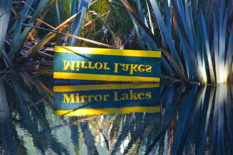 Milford Route, Mirrored Lakes, New Zealand