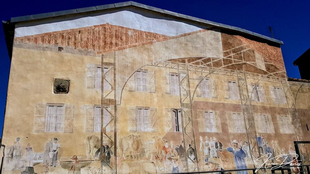Revel Mural, modern day town
