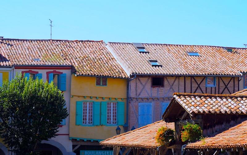 Revel ancient roof line, Revel, France