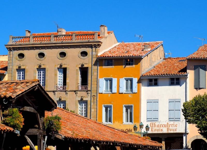 Revel ancient town square, Revel, France