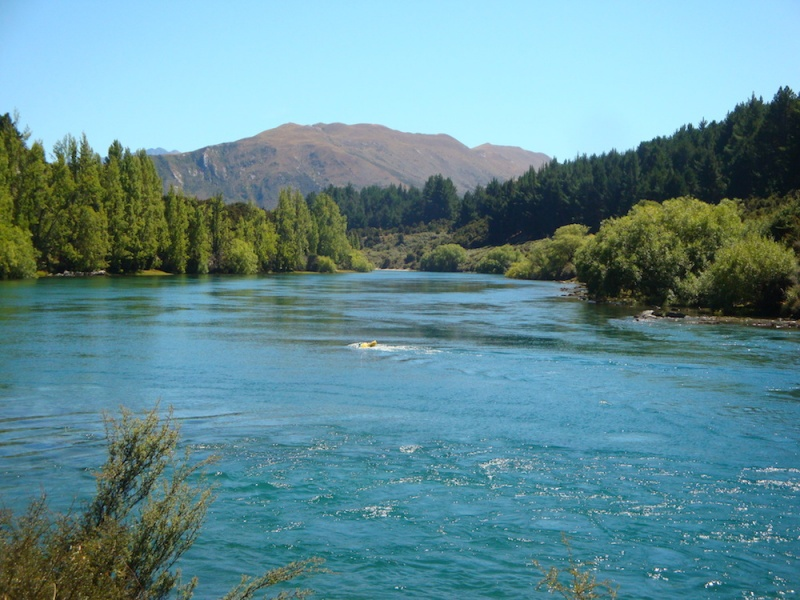 Wanaka River, Wanaker, New Zealand