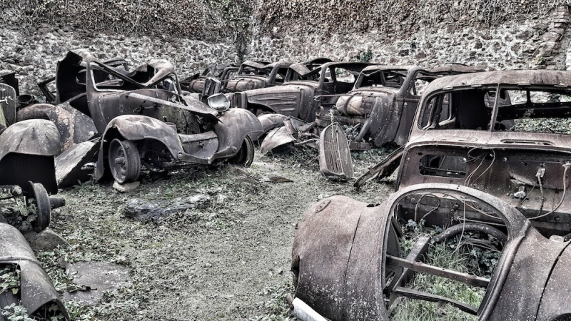 Oradour graveyard - for cars
