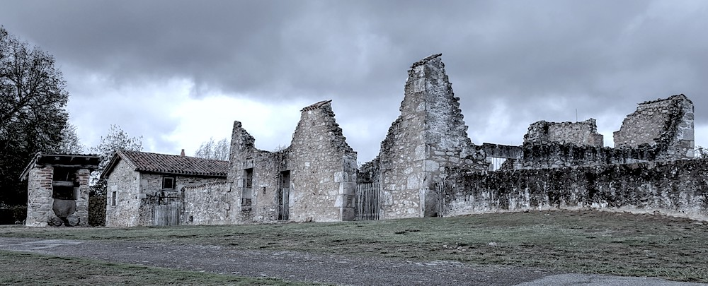 Oradour remains of a village community