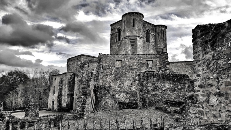 Oradour church where women and children were burnt alive, Oradour sur glane, france