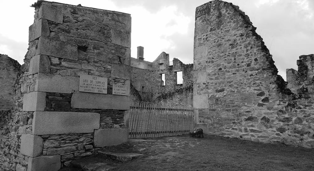 Oradour massacre spot, one of six
