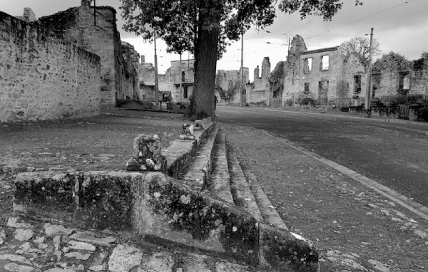 Oradour village view, Oradour sur glane, France
