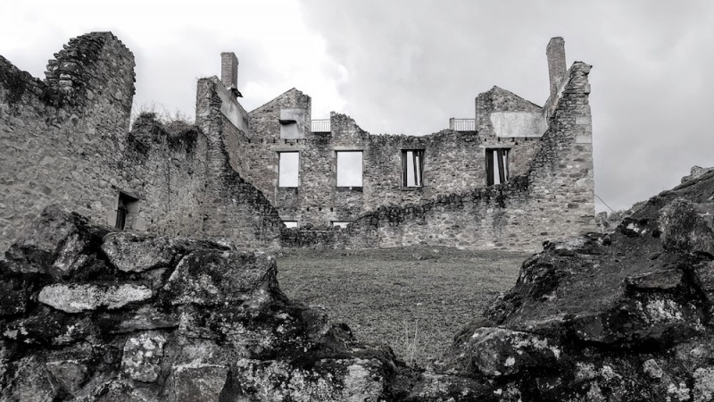 Oradour ruins, a village massacre, Oradour sur Glane, France