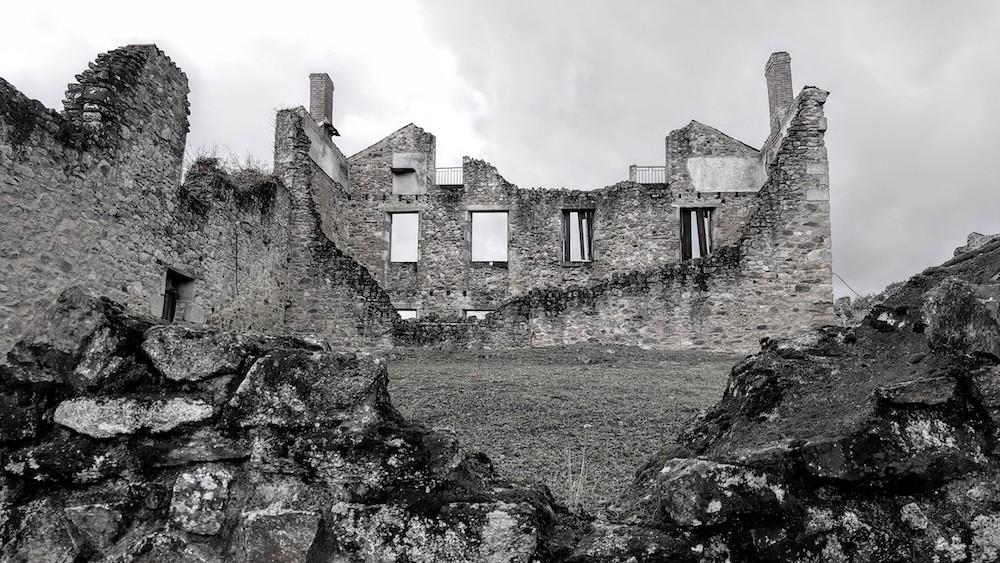 Oradour ruins, a village massacre