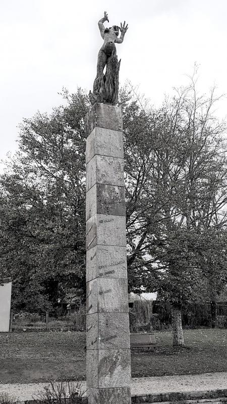 Oradour memorial statue