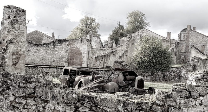 Oradour village ruins, Oradour sur glane, france