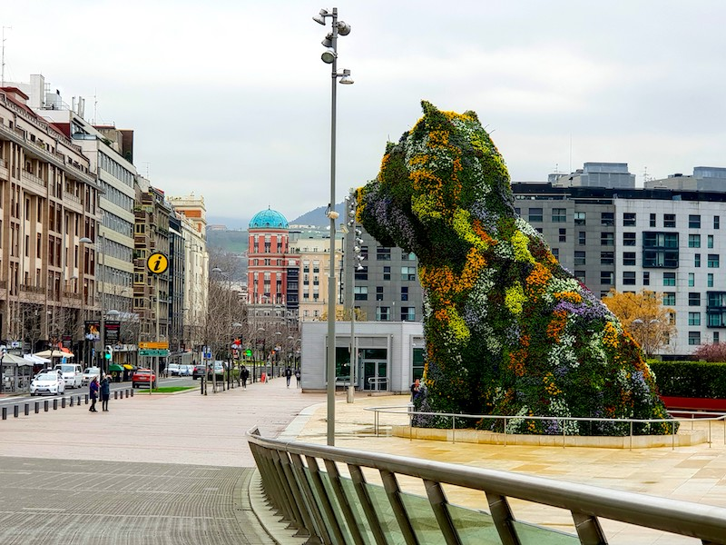 Guggenheim's puppy,Bilbao, Spain