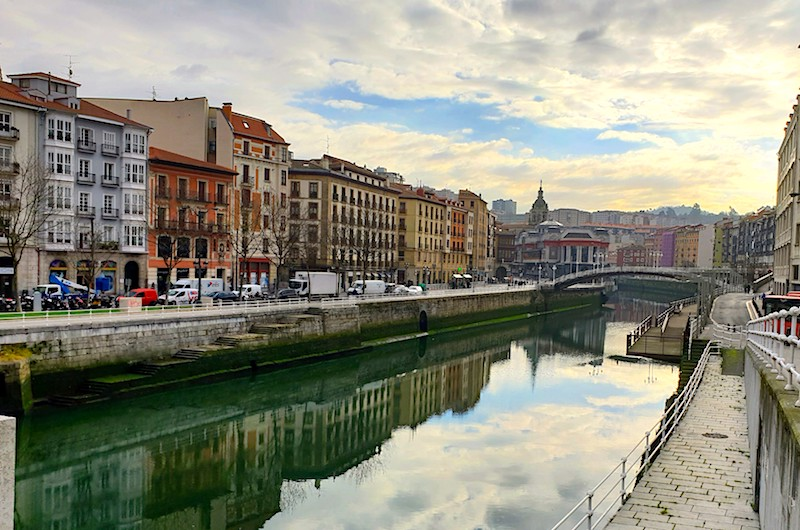Bilbao river Nervion, Spain