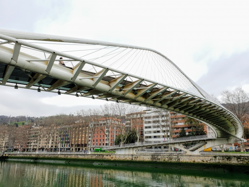 Zubizuri bridge, Bilbao, Spain