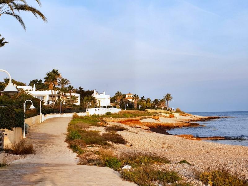 Denia coastal promenade, Denia, Spain