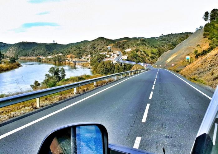 Empty roads in Alentejos region of Portugal.