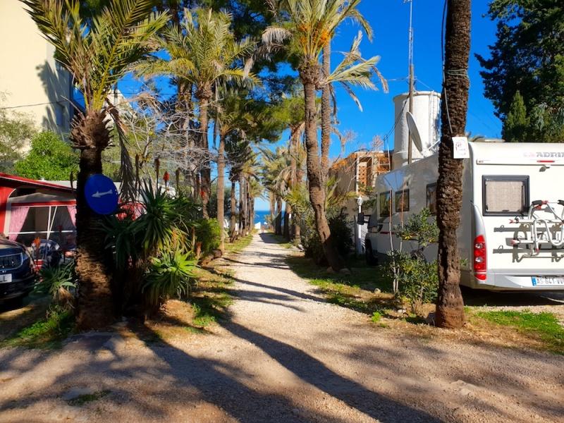 Los Pinos beach entrance