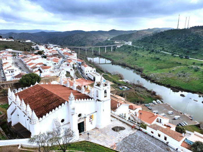 mertola castle view,Portugal