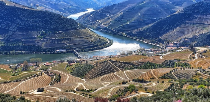 Douro River Valley at Pinhão,Portugal