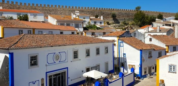 Obidos castle walls,Portugal