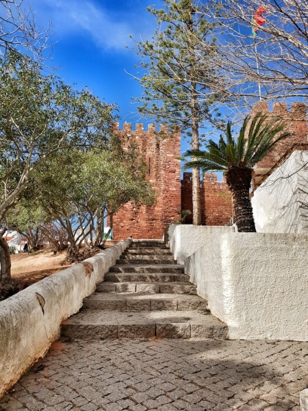 Silves castle steps,Portugal