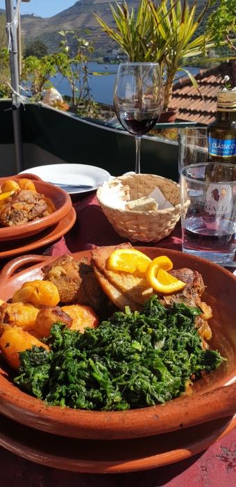 The Writer's Place roast lamb,Pinhão, Portugal