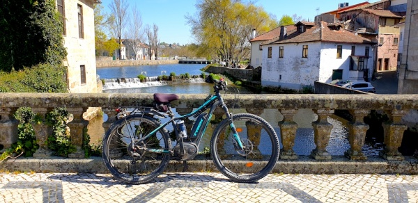 Viseu bike and river,Portugal