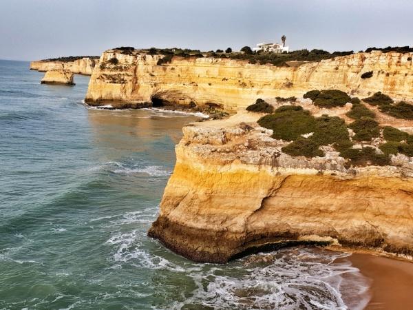 Albandeira coastline, Portugal